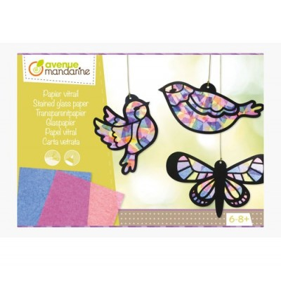 PAPEL VITRAL MANDARINE