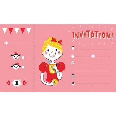 12 INVITACIONES MANDARINE