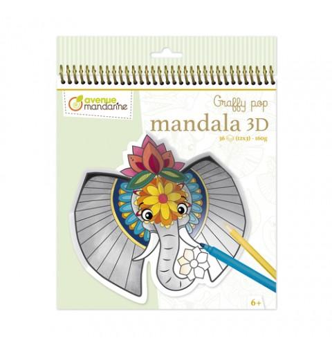 GRAFFY MANDALA 3D ANIMALES...